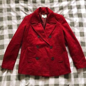 Old Navy red Peacoat | size M